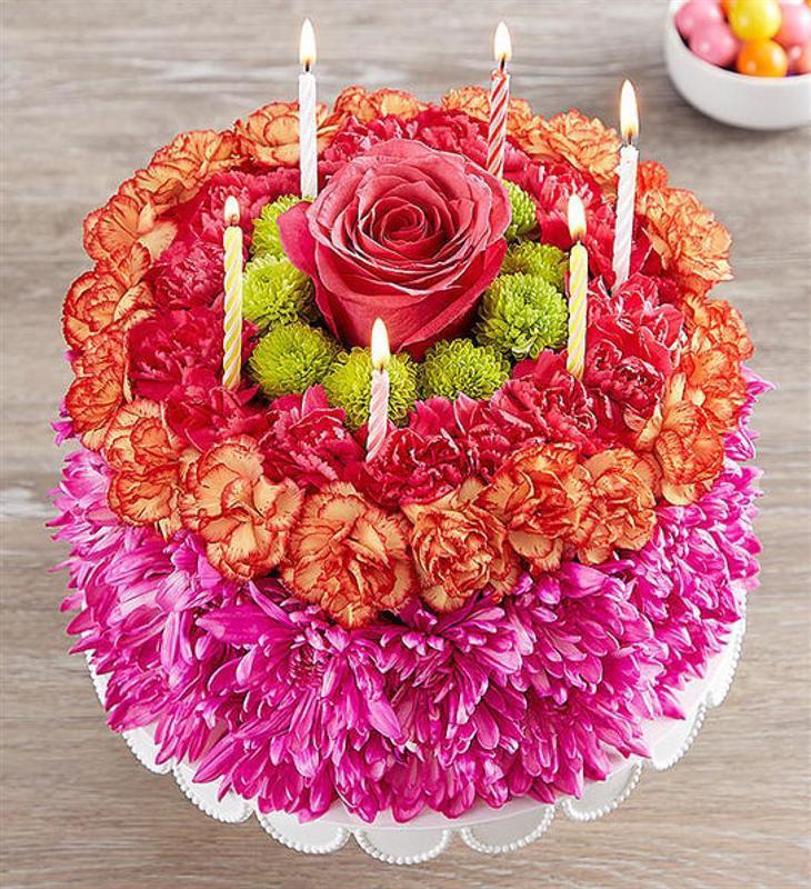 Doğum Günü Çiçek Pastası
